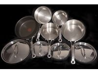 Tefal Jamie Oliver Stainless Steel 5 pan set (milk pan, 3 pans and saute pan with lids) £35