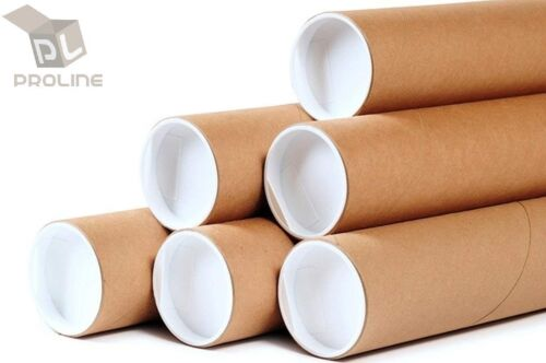 "3""x20"" ProLine Premium Kraft Mailing Shipping Tubes - 20/Ctn"