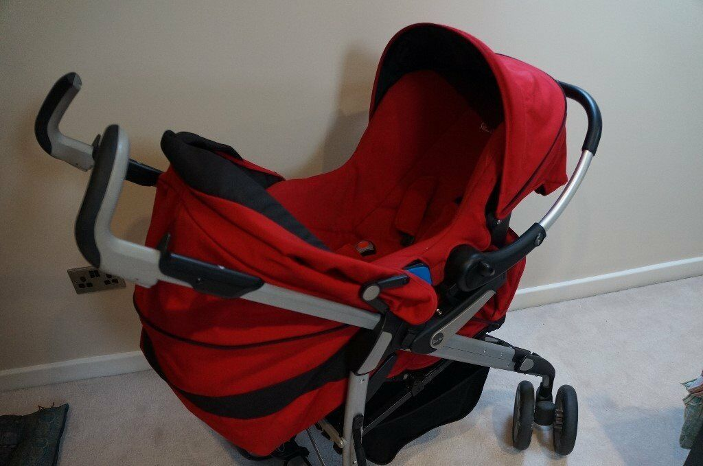 Red Silver Cross Travel System Pushchair