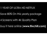 1 Year of Ultra HD Netflix for just 24.99