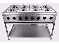 Commercial 8 Burner Cooker Heavy Duty