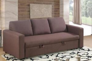 Brown Fabric Sofa Bed (BD-1713)