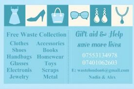 Fully Licensed FREE Waste Removal Same Day Service(Scrap Metal,Electronics,Toys,Clothes,Etc)