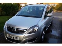 Vauxhall Zafira 1.8 manual 2014 (runs both on petrol and gas) excellent economy, well maintained