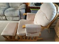 GLIDER LOCK NURSING CHAIR - FREE LOCAL DELIVERY