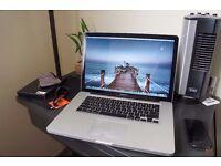 "Macbook Pro 2012 15"" - i7 - 4GB - 500GB . Final cut , logic pro , office , adobe"