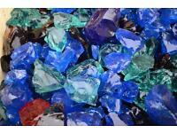 Rock slag glass for garden, pond, aquarium