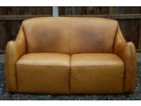 Rare Timothy Oulton Halo Castro Aniline Leather Sofa - Free Delivery
