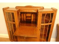 Amazing stylish Vintage/ Retro 1930's Solid Oak Side by Side Bureau attractive cravered detail