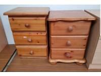 Pine bedside tables