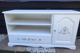 White French style shabby chic tv stand/ tv cabinet