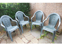 4 Patio or Garden Chairs