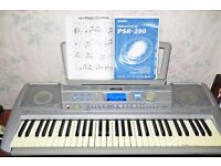 Yamaha PSR290 Keyboard +Stand+ Carry Case +Manual +Instruction Cassette +3 Easy Play Song Books
