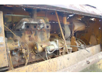 vintage Ingersol air compressor with Ford D4 engine