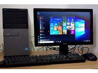 Superfast Dell Intel Core i3-2120 Desktop PC,4GB DDR3 RAM,500GB,Wifi Ready,win 10 64 Bit Computer