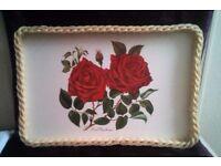 Vintage 'Rose' Serving Tray