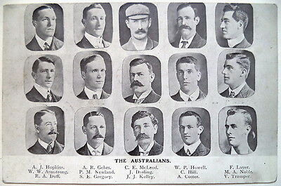 AUSTRALIA TO ENGLAND 1905 – VINTAGE CRICKET POSTCARD