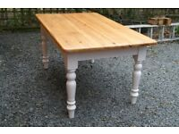 BEAUTIFUL VINTAGE PINE FARMHOUSE KITCHEN TABLE