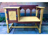 Vintage furniture telephone table seat