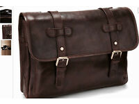 Marks & Spencer NEW AUTOGRAPH Brown Leather Double Buckle Dispatch Bag m&s