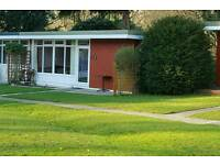 Chalet for rent in tranquil West Wales park.