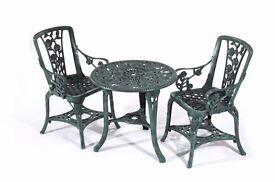NEW Green 3 Piece Garden Furniture Set