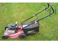 "Qualcast Sovereign Rotary Lawn Mower, Power drive, 16"" cut. Grass box."