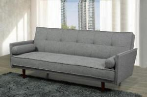 Fabric Sofa Bed with accent Pillows (BD-1704)
