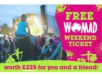 Ecotricity will give you a FREE TICKET TO WOMAD MUSIC FESTIVAL worth £225 if you switch by 8th June