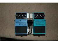 Boss Bass Chorus Pedal Boss Bass Limiter Enhancer