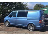 VW TRANSPORTER T5, combi van. Blue 6 seats