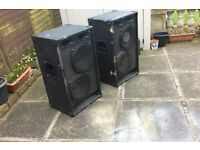Public Performance/ Band Speakers, 2 x base drivers 2 x horns in each