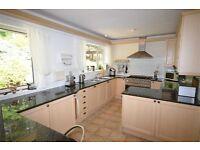 Kitchen units (Optiplan), sink, cooker, fridge, freezer, dishwasher, worktop