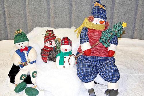 Plush Snowmen - Family of Four - X630