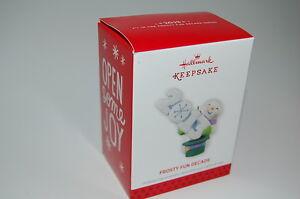 Hallmark 2013 Frosty Fun Decade Snowman Year series 4th Ornament