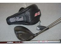 PING i25 driver 10.5 degrees mens right handed with two shaft options stiff/extra stiff