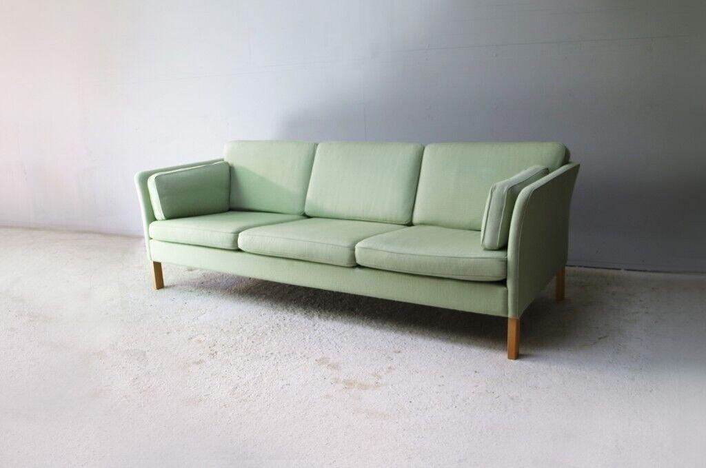 Furniture 1900-1950 1970's Danish Mid Century Large 3 Seater Sofa