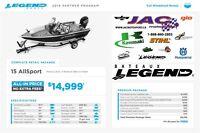 2016 Legend Boats Ltd 15 AllSport Mercury 25 EL **Premium packag