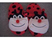 New Kids Funny Shoe Slippers Ladybirds