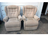 Pair Of Matching Sherbourne Reclining Arm Chairs
