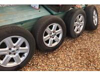 """4 x 17"""" Land Rover Freelander2 Alloys and tyres"""