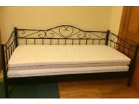 Ikea Metal Day Bed with x2 Mattresses! Delivery Available