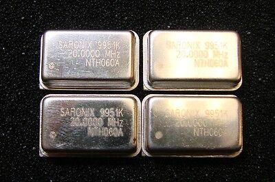 Saronix Oscillator 20mhz 3.3v Nth060a-20.0000 Dip-14 Qty.4