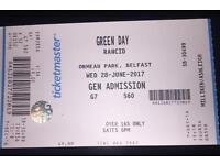 Green Day and Rancid Belsonic Ticket