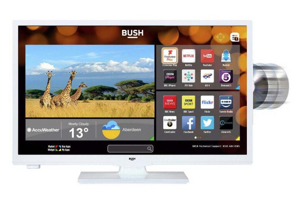 **NEW**Bush LED24265DVDCNTDW 24 Inch Smart HD Ready LED TV/DVD Combo White Built-in WiFi