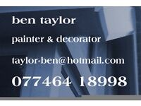 Painter & Decorator available. Reliable friendly service. 20 years experience. All work considered