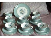 """Beautiful Royal Worcester """"Woodland"""" 21 Piece Tea Set"""