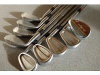 Mens Right handed Titleist Forged 690.CB irons, Stiff shafts. 3-PW Ben Hogan SW.