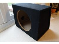 """Capeted MDF 12"""" In-Car Subwoofer box"""