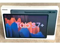 "SAMSUNG GALAXY TAB S7 PLUS 12.4"" BLACK 128gb WIFI, BRAND NEW SEALED BOX 2 YEARS WARRANTY rrp £799"